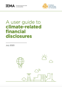 A user guide to climate related financial disclosures