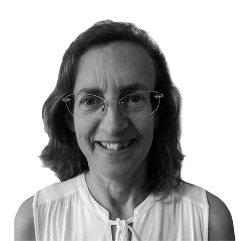 Portrait photograph of Carol Brass