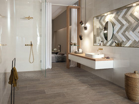 Top Press Loft | Image of Bad en suite mit behaglicher Holzoptik for ZB55