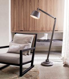 Press Loft | Image of Nuvo Floor Lamp in MetalWashed Grey