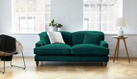 Galloway Sofa, Hard Wearing Velvet Mallard