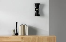 Ogilvy Task Wall Lamp Black BrassPRB2