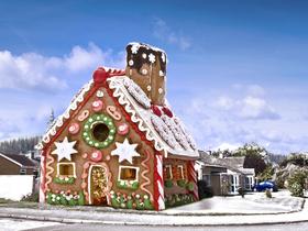 Riesen-Lebkuchenhaus - Eigenheim zum Selberbacken