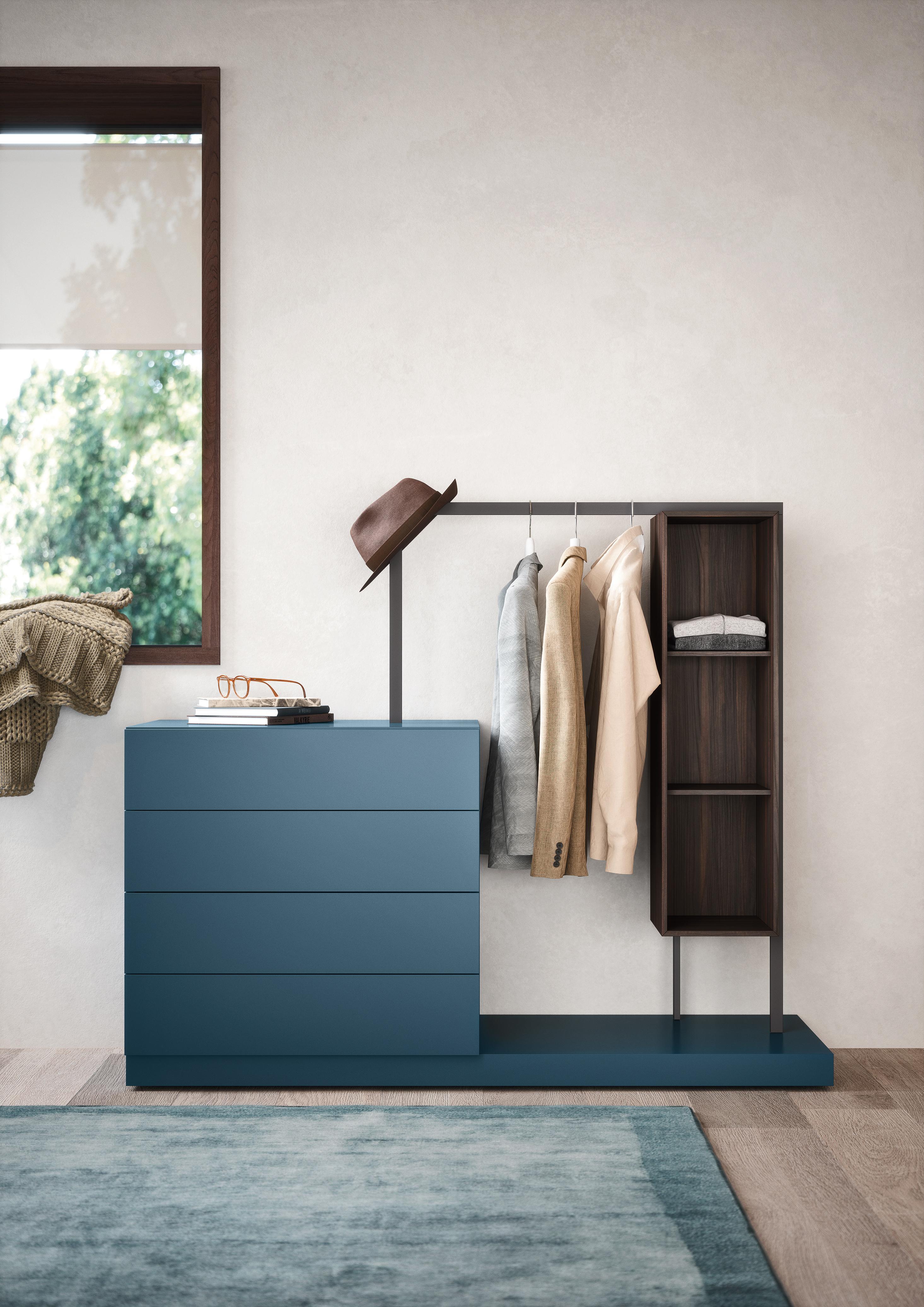 Press Loft Exklusive Garderobenkleiderstangen Bringen Ordnung Ins Schlafzimmer