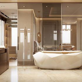 Neutral Palette Bathroom | White Diamond Bathtub