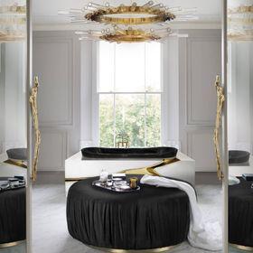 Dream Luxury Bathroom | Lapiaz Bathtub and Ella Puff