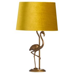 Gold Flamingo Lamp with Pink Shade