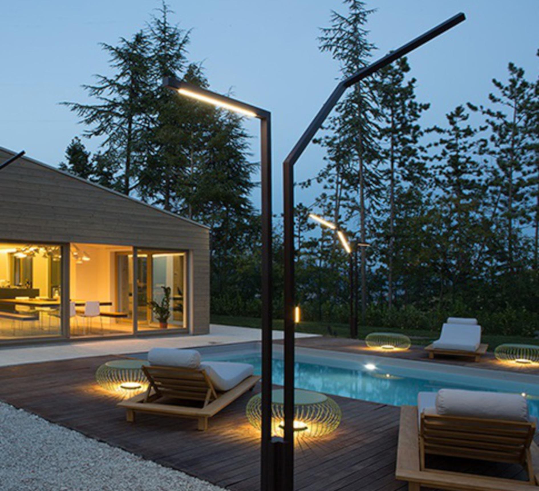 LAMPADAIRE EXTÉRIEUR, MERIDIANO 4710, VERT, IP64,LED, 2700K, 1041LM, Ø64CM, H46CM - VIBIa