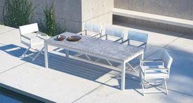Press Loft Image Of Tavolo Da Pranzo In Legno E Alluminio Da Esterno Di Design Moderno Gange For Press Pr