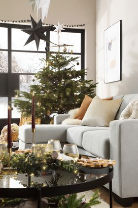 Rio Grey Sofa -  AW21  - Christmas -  Alt 2 -  Portrait