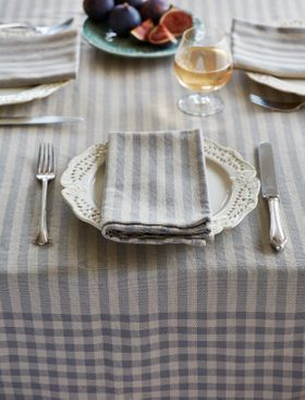Toulouse Grey Tablecloth