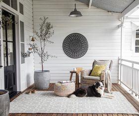 Kasbah Smoke Indoor/Outdoor Rug