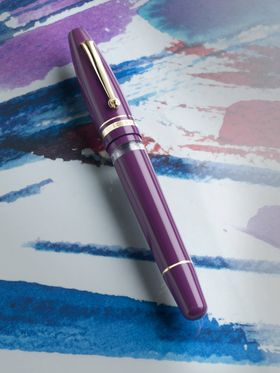 Purple luxury fountain pen