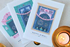 Eastern Windows Diwali Cards