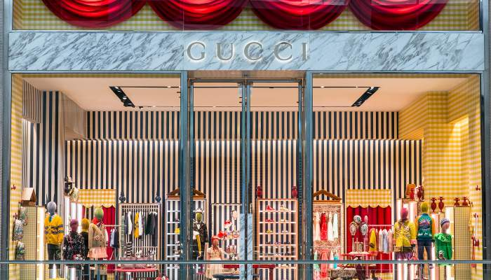 gucci unveiled newlook store at london heathrow