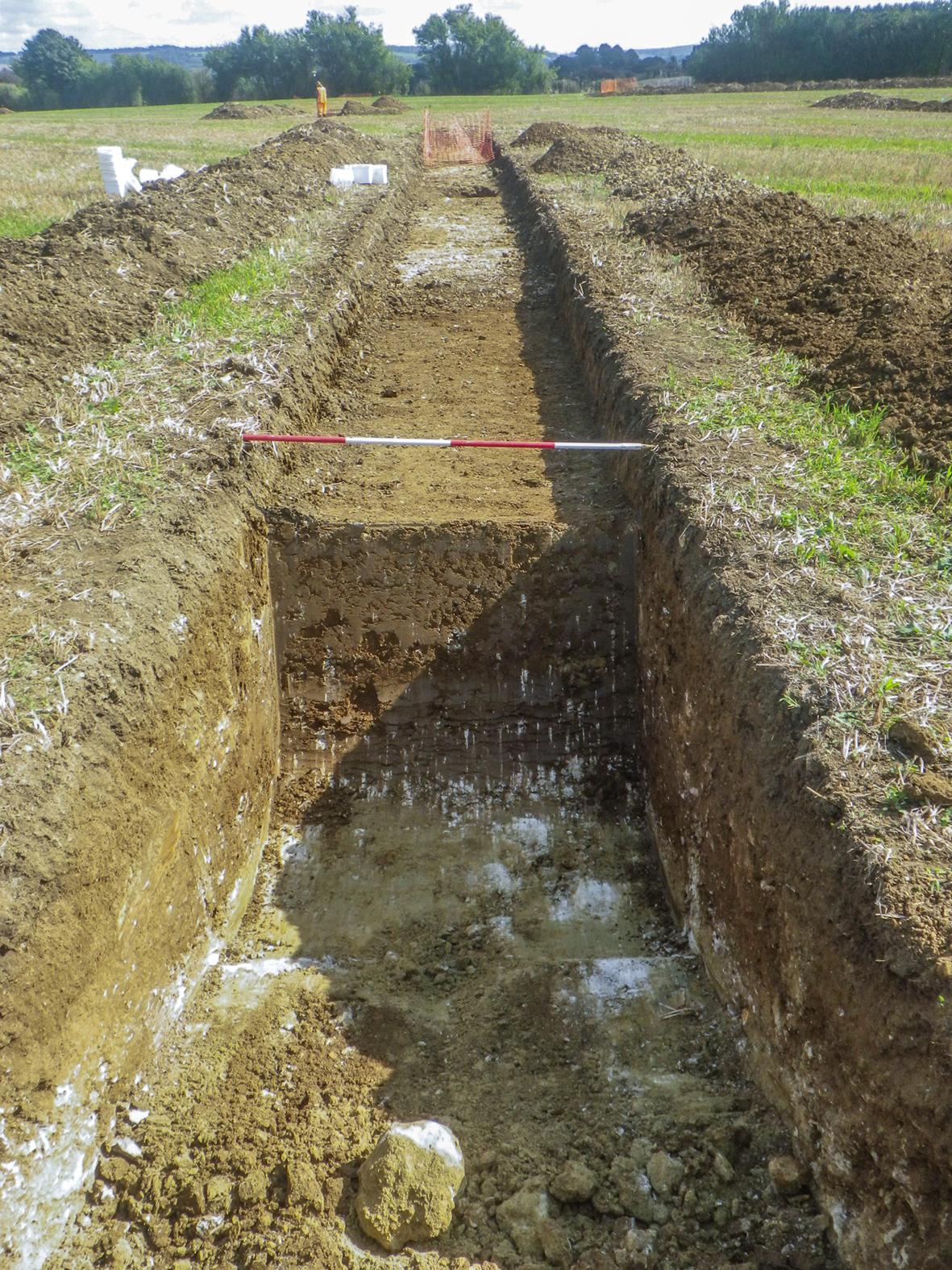 Machine-dug slot