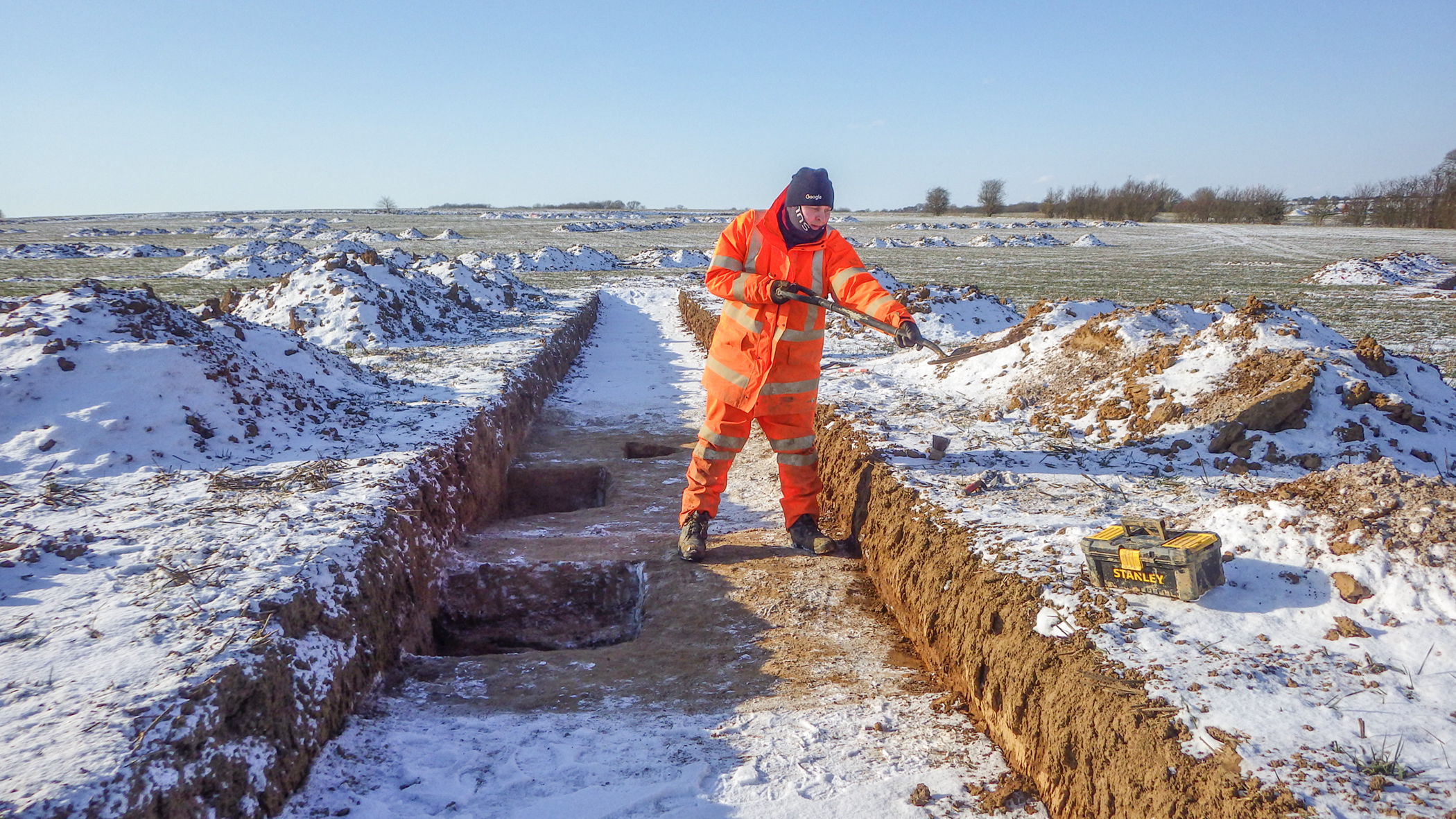 Excavation in the snow