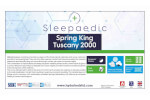 Spring King Pocket Tuscany 2000 Natural Mattress thumbnail