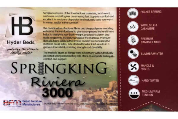Spring King Pocket Riviera 3000 Natural Mattress