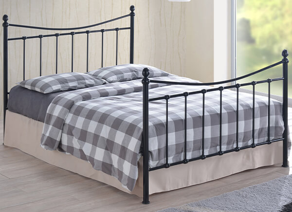 Time Living Black Alderley Bed Frame - King Size (5' x 6'6