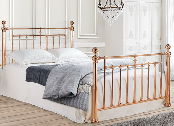 Time Living Rose Gold Alexander Bed Frame - Double (4'6