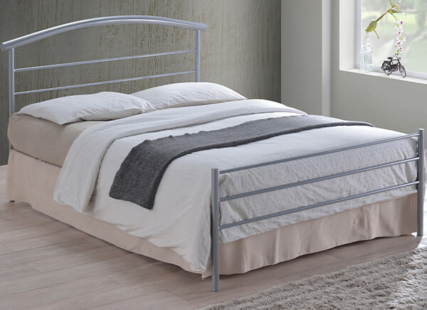 Time Living Silver Brennington Bed Frame - Single (3' x 6'3