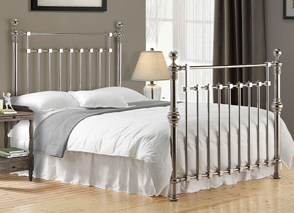 Time Living Chrome Edward Bed Frame - Double (4'6