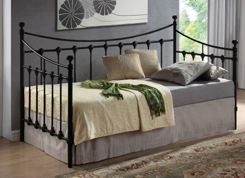 Time Living Black Florida Day Bed  - Single (3' x 6'3