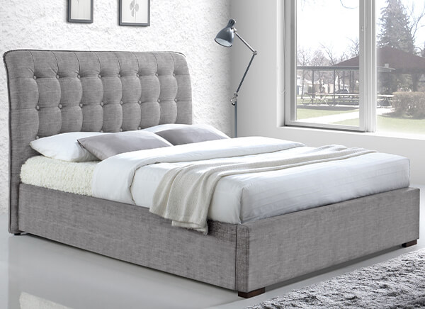Time Living Light Grey Hamilton Bed Frame - Double (4'6