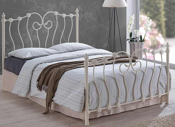 Time Living Ivory Inova Bed Frame - Double (4'6