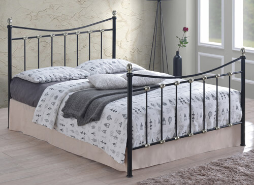 Time Living Black Oban Bed Frame - King Size (5' x 6'6
