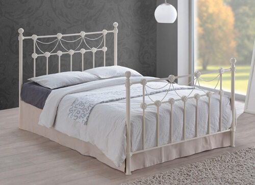 Time Living Ivory Omero Bed Frame - King Size (5' x 6'6