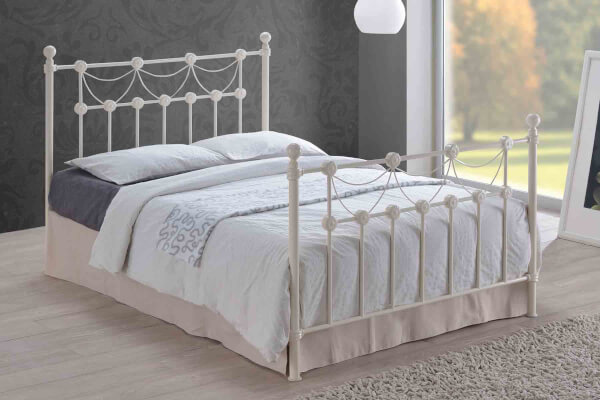 Time Living Ivory Omero Bed Frame