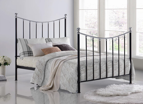 Time Living Black Vienna Bed Frame - King Size (5' x 6'6