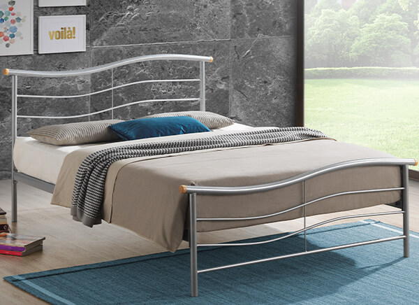 Time Living Silver Waverley Bed Frame - Single (3' x 6'3
