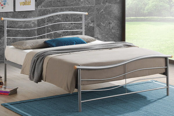Time Living Silver Waverley Bed Frame