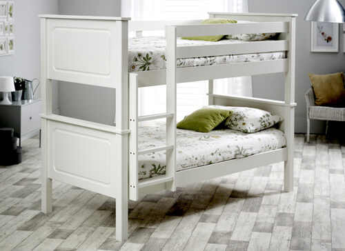 Bedmaster White Ashley Bunk Bed - Single (3' x 6'3