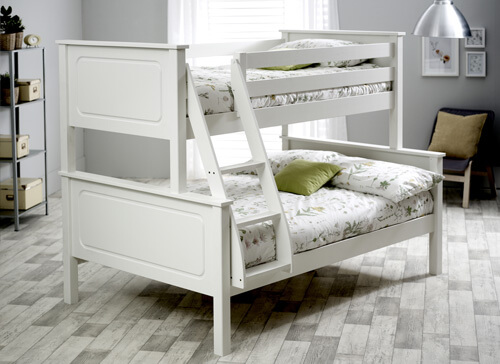 Bedmaster White Ashley Triple Sleeper - Small Double (4' x 6'3