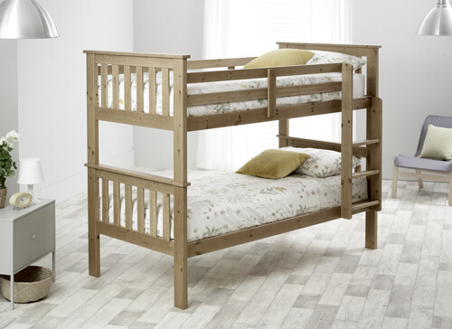 Bedmaster Pine Carra Bunk Bed - Single (3' x 6'3