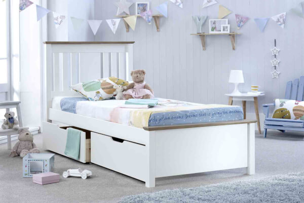 Bedmaster White Chester Bed