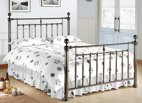 Time Living Black Nickel Alexander Bed Frame - Double (4'6