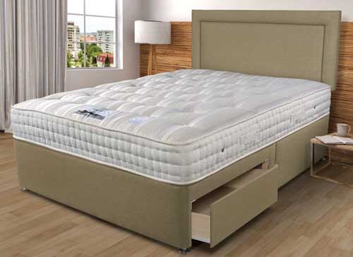 Sleepeezee Backcare Luxury 1400 Divan Bed Set - Single (3' x 6'3