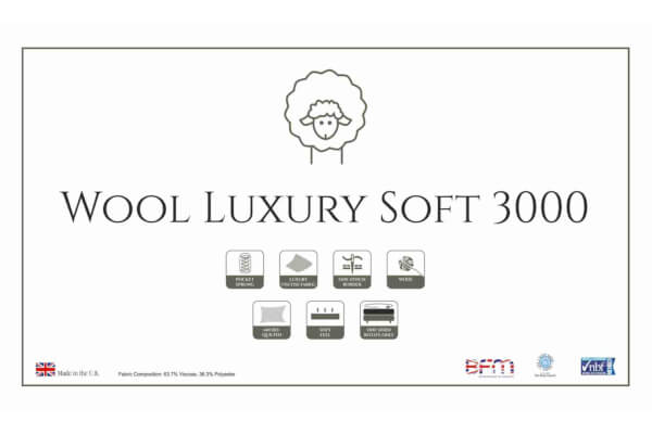 Wool Luxury Soft 3000 Mattress