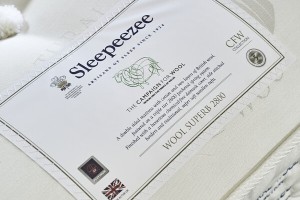 Sleepeezee Wool Superb 2800 Pocket Mattress