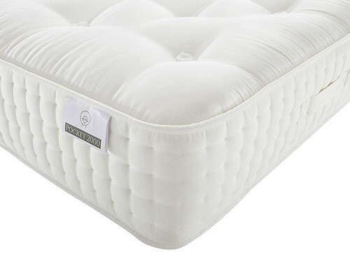 Spring King Cashmere Natural Luxury Pocket 2000 Mattress - Small Single (2'6