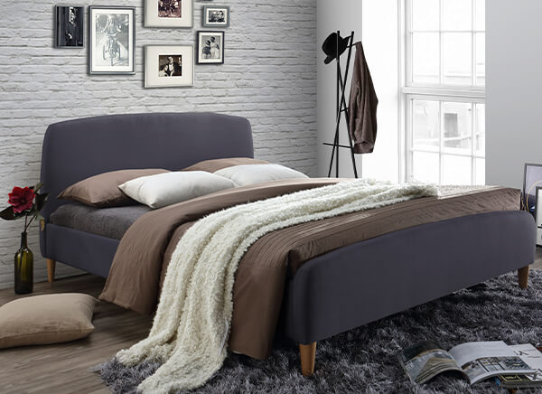 Time Living Geneva Grey Bed Frame - Double (4'6