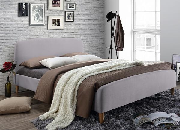 Time Living Geneva Light Grey Bed Frame - Double (4'6