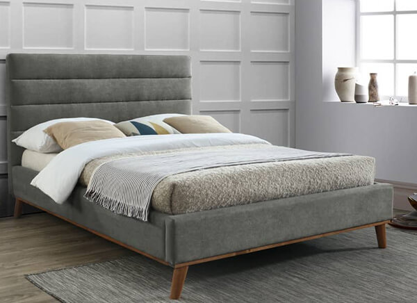 Time Living Mayfair Light Grey Bed Frame - Double (4'6