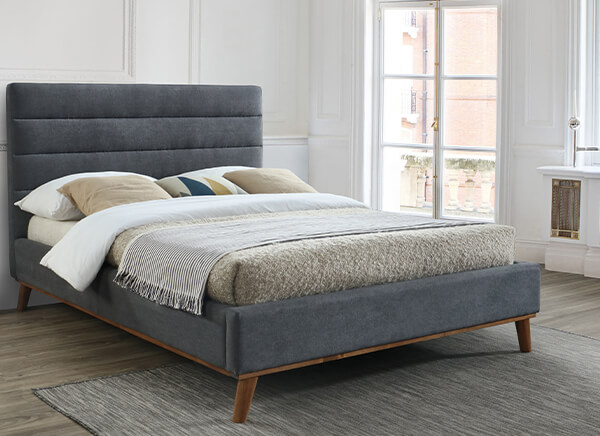 Time Living Mayfair Dark Grey Bed Frame - Double (4'6