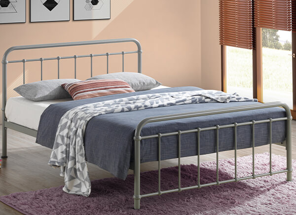 Time Living Miami Pebble Bed Frame - King Size (5' x 6'6
